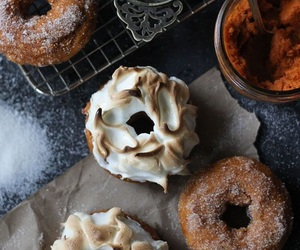 donuts, sweet, and fall image