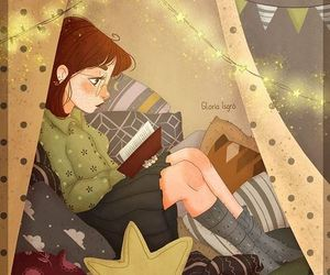 autumn, night, and read image