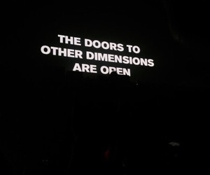 black, quotes, and dimension image