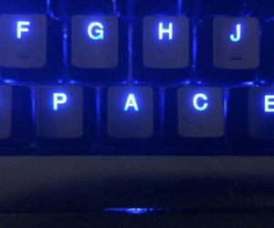 blue, aesthetic, and keyboard image