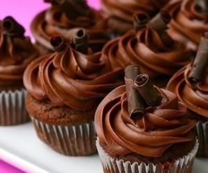 cupcake, chocolate, and sweet image