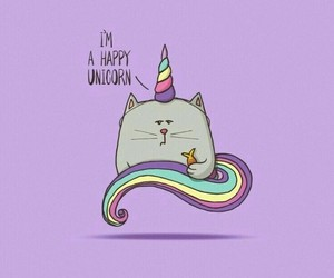unicorn, cat, and happy image