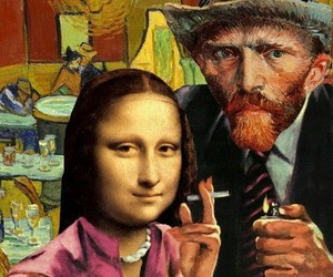 art, mona lisa, and van gogh image