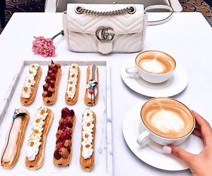food, gucci, and coffee image
