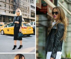 street style, leather jackets, and women's fashion image