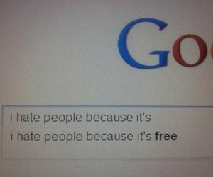 hate, google, and people image