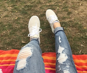leaves, vans, and Central Park image