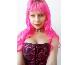 burlesque, choker, and pink hair image
