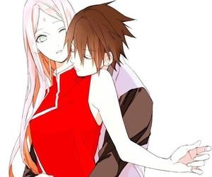 sasusaku, naruto, and sasuke image