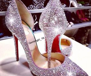 christian laboutin, shoes, and sparkle image
