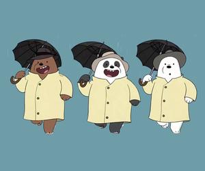 bears, blue, and panda image