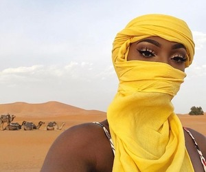 yellow, makeup, and beauty image