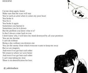 heartbreak, mental health, and poems image