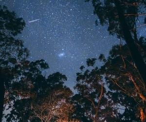 camping, stars, and wallpaper image