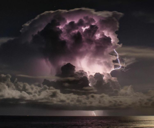clouds, storm, and purple image