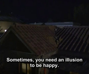quotes, happy, and illusion image