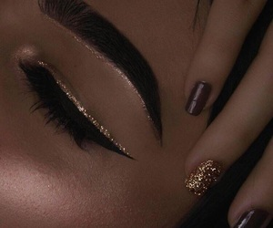 artsy, glitter, and makeup image