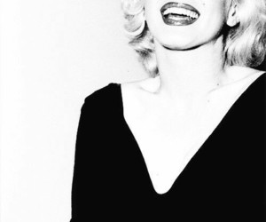90s, black and white, and Marilyn Monroe image