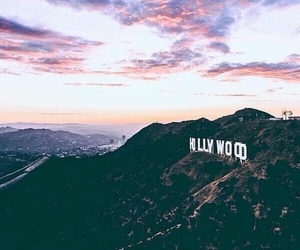 hollywood, sky, and travel image