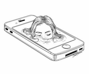 art, drawing, and iphone image