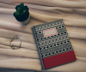 notebook, tumbler, and pandora image