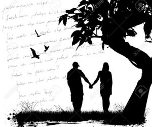 couple, tree, and love image