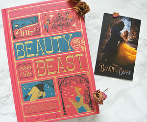 beauty and the beast, book, and classic image