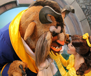 disney, beauty and the beast, and photography image