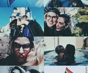 edit, wallpaper, and lesbian couple image