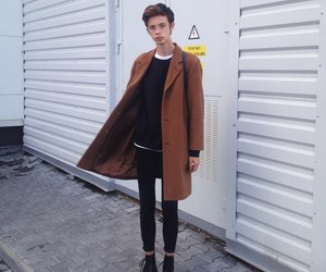autumn, boy, and skinny image