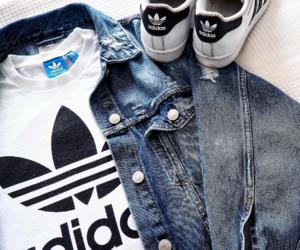 adidas, fashion, and denim image