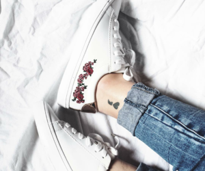 shoes, tattoo, and white image