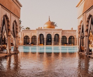 marrakech, paradise, and pool image