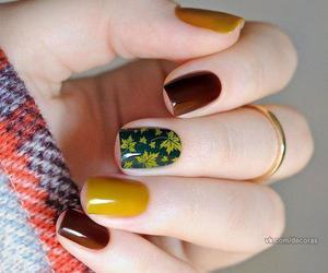 nails, autumn, and nail art image