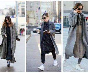 coats, street style, and long coats image