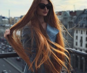 beautiful, ginger, and girl image