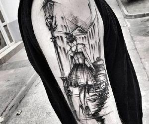 art, tattoo, and sketch tattoo image
