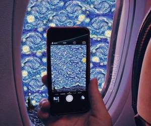 art, airplane, and blue image