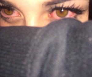 eyes, grunge, and red image