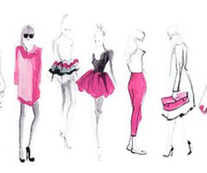 fashion, pink, and art image
