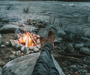 fire, nature, and photography image