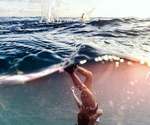 cool, swim, and water image
