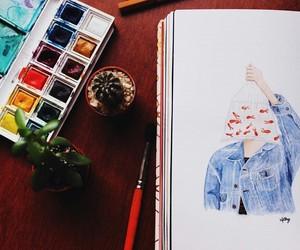 aesthetic, arte, and autumn image