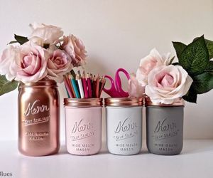 flowers, diy, and pink image