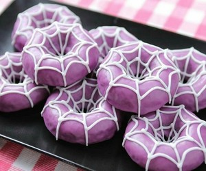 Halloween, donuts, and purple image