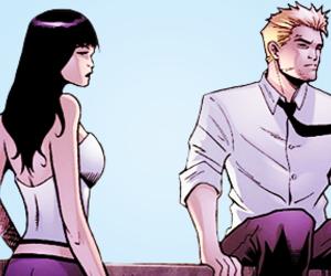 Constantine, zatanna, and dc comics image