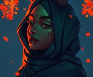 art, beautiful, and illustration image