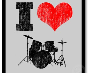 drums, music, and love image