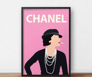 art, coco chanel, and colourful image