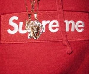red, supreme, and ghetto image